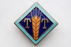 Russian Estonia Trade Tallinn food-trading unit Badge large size Nice Grade !!