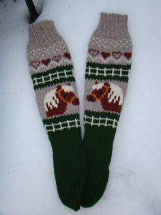 Anna, Stocking Pattern, Knitting Socks, Knit Socks, Boot Cuffs, Cool Socks, Knit Or Crochet, Double Knitting, Animal Design