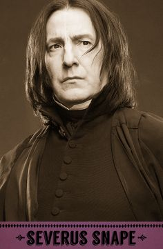 Severus Snape, Potions professor, Defence Against the Dark Arts professor, Head of Slytherin house, briefly Headmaster of Hogwarts. #HarryPotter #Hogwarts #Slytherin #Snape
