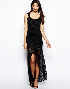 Aumentar Vestido de encaje con cola de pez Leila de Jessica Wright
