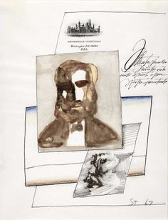 Drawing on Smithsonian Institution stationery I, 1967. Ink, wash, and colored pencil on paper, 10 ½ x 8 in. Smithsonian American Art Museum, Washington, DC; Gift of the artist
