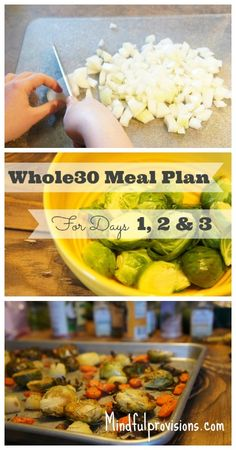 Whole30 Meal Plan for Days 1, 2 and 3