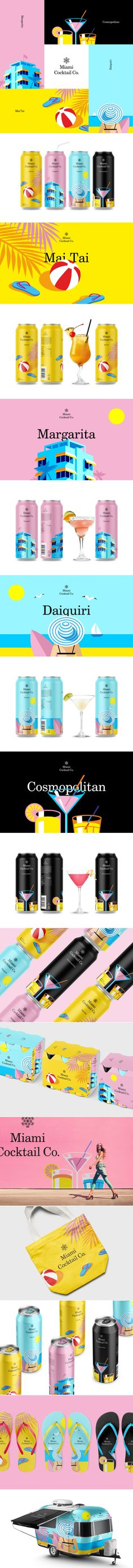 Miami Cocktail Co. Branding and Packaging by Berik Yergaliyev | Fivestar Branding Agency – Design and Branding Agency & Curated Inspiration Gallery #cocktails #branding #packaging #design #behance #pinterest #dribbble #fivestarbranding