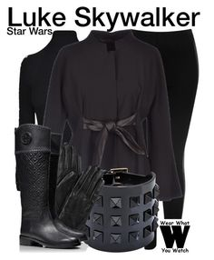 """Star Wars"" by wearwhatyouwatch ❤ liked on Polyvore featuring moda, Topshop, Versace, Pianurastudio, Valentino, ILI, Tory Burch, wearwhatyouwatch y film"
