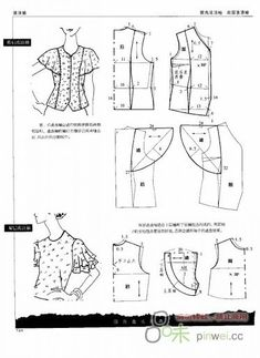 Amazing Sewing Patterns Clone Your Clothes Ideas. Enchanting Sewing Patterns Clone Your Clothes Ideas. Dress Sewing Patterns, Sewing Patterns Free, Sewing Tutorials, Clothing Patterns, Sewing Projects, Blouse Pattern Free, Blouse Patterns, Patron Vintage, Sewing Blouses