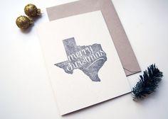 Letterpress Christmas Card: Merry Christmas from Texas
