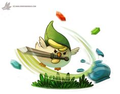 Daily Painting #930. Cucco Link by Cryptid-Creations.deviantart.com on @DeviantArt