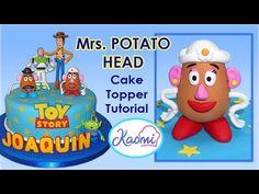 Toy Story (Cake Topper): Mrs Potato Head / Cómo hacer a la Sra. Cara de Papa para tortas - YouTube