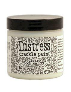 Tim Holtz® - Distress Crackle Paint - Clear Rock Candy - 4oz. DENNE VIL IKKE UTGÅ!!!
