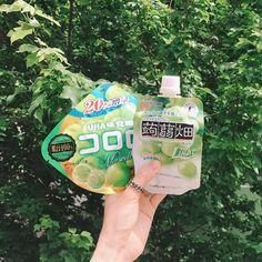 """2,750 Likes, 12 Comments - 투투 김지우 🎁 (@zoopeach) on Instagram: """"아직 집에 있길래 덥석 가지고 밖에 나왔다. 일본가면 꼭 또 사먹을거야 🌿💚"""""""