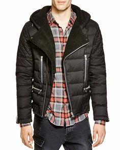 The Kooples Biker Flannel Down Jacket - 100% Bloomingdale's Exclusive
