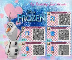 Animal Crossing QR: Olaf from Frozen by Rasberry-Jam-Heaven.deviantart.com on @deviantART