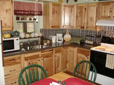 Steep Falls   Kitchen Classics   Denver Hickory Traditional Kitchen ·  Hickory CabinetsWood CountertopsTrailer ...