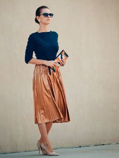 "I want pretty: Look- Cómo usar vestidos y faldas ""MIDI""/ How to use midi skirts and dresses!"