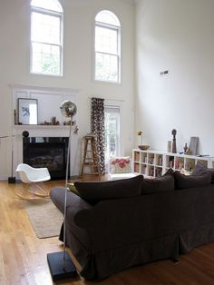 black white style with wooden floor