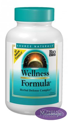 Wellness Formula supports the immune system when under physical stress. Wellness Formula® contains a powerful combination of herbs, antioxidants, vitamins, and minerals formulated to boost your well-being. Get your Wellness Formula at Anoka Masssage & Pain Therapy today - your wellness is our business!
