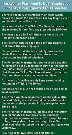 This Woman Was Hired For A Simple Job But They Never Expected Her To Do This funny jokes story lol funny quote funny quotes funny sayings joke humor stories
