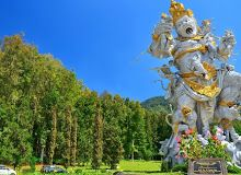 Bali Botanical Garden or Kebun Raya Eka Karya, the huge tropical garden found in Bedugul plateau area in Bali. What A Wonderful World, Beautiful World, Beautiful Gardens, Beautiful Places, Amazing Places, Bali Tour Packages, One Day Tour, Tropical Garden, Tropical Paradise