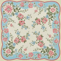 Hanky Panky Handkerchief Panel Vintage 2/3 yd - ADZ-13217-200