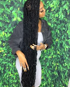 Braids Hairstyles Pictures, Faux Locs Hairstyles, Baddie Hairstyles, My Hairstyle, Black Girls Hairstyles, Hair Pictures, Megan Good, Black Girl Braids, Braids For Black Hair