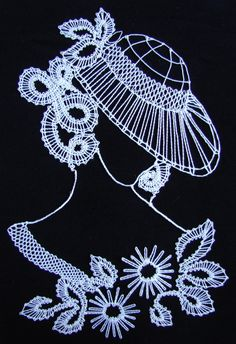 Paličkování - Поиск в Google Doily Art, Lace Art, Machine Embroidery Designs, Embroidery Patterns, Hand Embroidery, Bobbin Lace Patterns, Crochet Patterns, Romanian Lace, Lacemaking