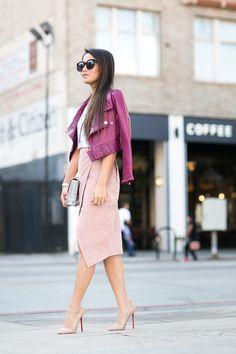Shades of Pink :: Soft tee Wendy Nguyen.  http://www.wendyslookbook.com
