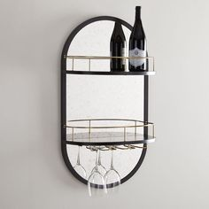 Add a touch of modern simplicity to your kitchen with the Outline Collection. Pairing a mango wood shelf with hanging wine glass storage, the Outline Wine Glass Shelf is a small space-savvy solution for storing your glasses while also keeping them… Mirror Shop, Mirror Wall Art, Wine Glass Shelf, Glass Shelves, Bar Shelves, Display Shelves, Display Cabinets, Rack Shelf, Shelving
