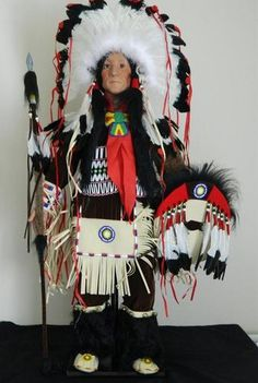 Timeless Collection Rolling Thunder Indian Doll Limited ED Porcelain NIB 32"
