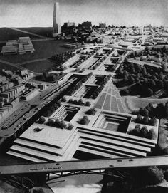 Panther Hollow Development, Pittsburgh, Pennsylvania, 1963 (Project) (Max Abramowitz)