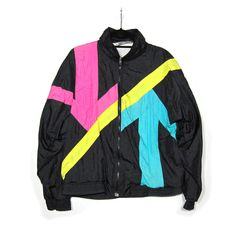 VTG 80s NIKE Track Jacket Windbreaker Shell Bomber Colorblock ...