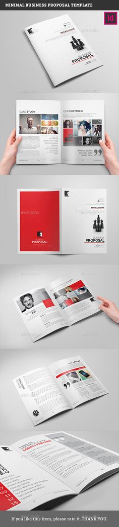 Minimal Business Proposal 20 Pages Template InDesign INDD #design Download: http://graphicriver.net/item/minimal-business-proposal-template/13315555?ref=ksioks