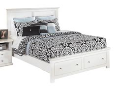 Bostwick Shoals White Queen Storage Panel Bed