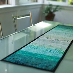 quilted table runner  the river by btaylorquilts on Etsy, $68.00