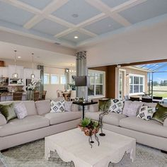 Gorgeous light and airy open concept floor plan | Tampa | New Homes | Decor Inspo | Homes By WestBay | Longboat Model