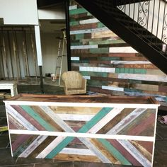 Pallet wall and cash wrap for Lotus Boutique!