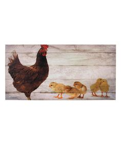 Look at this Mama & Her Chicks Wrapped Canvas on #zulily today!
