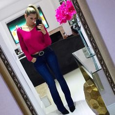 Think Pink  #instablogger #fiquelinda #instatips #cartaodamodaa #lookdodia #ootd #saturday #weekendlovers #jeans #tricot