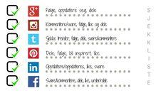 Illustrasjon av en sjekkliste for sosiale medier Words, Blog, Blogging, Horse