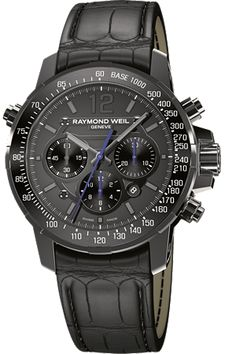 This limited Edition Raymond Weil Nabucco mysteriously recharges on it's own using your wrist movements... spooky!