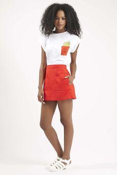 Stitch Pocket A-Line Skirt - Skirts - Clothing - Topshop