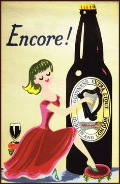 """Encore"" - Guinness / Vintage Poster Art Print (Only 22 available) 