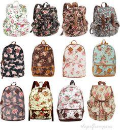 I want a floral backpack! Cute Backpacks, Girl Backpacks, Awesome Backpacks, College Backpacks, Floral Backpack, Backpack Bags, Tote Bags, Back Bag, Buy Bags