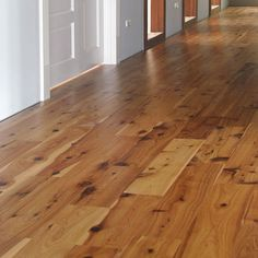 7 5 Smooth Golden Australian Cypress Hardwood Flooring Wood Floor | Really like all the knots in this flooring