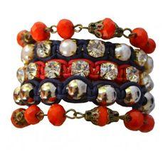 Pulseira em bijouteria, da designer Vanessa Bom Garcia. Kit com pulseiras avulsas.