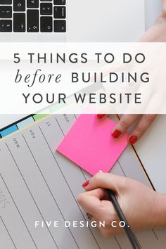 5 important things to do before building your website // tips & tricks to efficiently create a beautiful & effective website for your business // web Cv Website, Business Website, Business Tips, Online Business, Website Layout, Website Ideas, Make Website, How To Create Website, Build Your Own Website