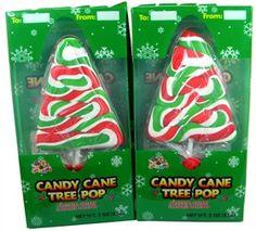 Candy Cane Christmas Tree Lollipops 12ct: BlairCandy.com