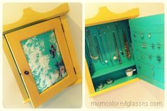 Upcycled {Medicine Cabinet} Jewelry Box DIY