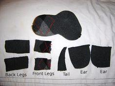little black teapot: Single Sock Dog Tutorial