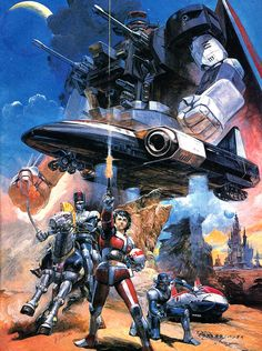 """80s cartoon / anime cult - """"SABER RIDER & THE STAR SHERRIFS"""" ((jap. 星銃士ビスマルク, Sei Jūshi Bisumaruku); cover artwork for the japanese VHS edition of episode 1-4 (197/1988)"""