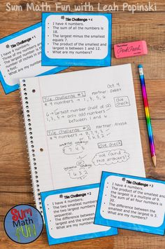 """Early Finishers and Gifted Math Challenges #2: Gifted learners and early finishers will love these number sense problem solving tasks. Perfect for centers, stations, collaborative work, and place value enrichment. Many different tasks included. Great to have at your fingertips when you hear that first...""""I'm DONE!"""". Grades 4, 5, and 6. Love Them!"""